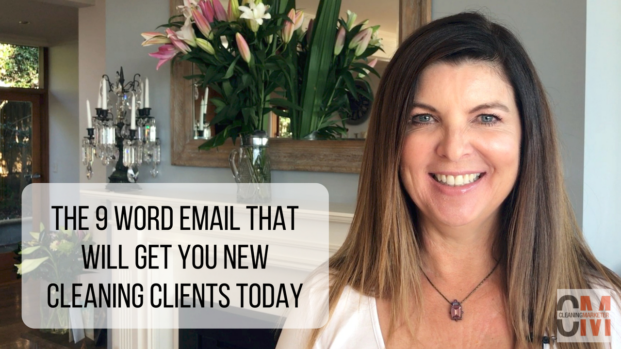 9 Word Email For Cleaning Businesses